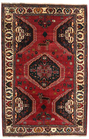 Qashqai Rug 167X255 Authentic  Oriental Handknotted Dark Red/Dark Brown (Wool, Persia/Iran)