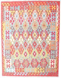 Kelim Afghan Old Style Vloerkleed 152X196 Echt Oosters Handgeweven Beige/Lichtroze (Wol, Afghanistan)