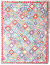 Kilim Afghan Old Style Rug 150X196 Authentic  Oriental Handwoven White/Creme/Light Purple (Wool, Afghanistan)
