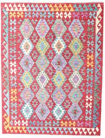 Kilim Afghan Old Style Rug 150X197 Authentic  Oriental Handwoven Rust Red/Light Pink (Wool, Afghanistan)