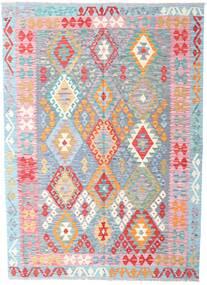 キリム アフガン オールド スタイル 絨毯 174X243 オリエンタル 手織り 薄紫色/水色 (ウール, アフガニスタン)