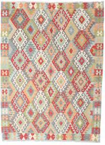 Kilim Afgan Old Style Dywan 164X221 Orientalny Tkany Ręcznie Beżowy/Ciemnobeżowy (Wełna, Afganistan)