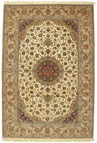 Isfahan Allekirjoitettu: Enteshari Matto 204X305 Itämainen Käsinsolmittu Vaaleanruskea/Ruskea (Villa/Silkki, Persia/Iran)