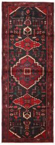 Hamadán Szőnyeg 109X293 Keleti Csomózású Sötétpiros/Fekete (Gyapjú, Perzsia/Irán)