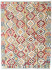 Kelim Afghan Old Style Matto 165X222 Itämainen Käsinkudottu Vaaleanharmaa/Tummanbeige (Villa, Afganistan)