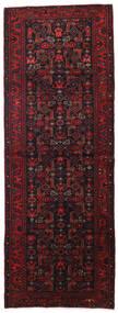 Hamadan Tapis 113X307 D'orient Fait Main Tapis Couloir Noir/Rouge Foncé (Laine, Perse/Iran)