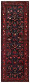 ハマダン 絨毯 111X321 オリエンタル 手織り 廊下 カーペット 濃い茶色/深紅色の (ウール, ペルシャ/イラン)