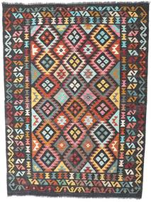Kilim Afghan Old Style Rug 175X236 Authentic  Oriental Handwoven Black/Dark Grey (Wool, Afghanistan)