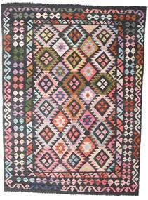Kelim Afghan Old Style Teppich  172X234 Echter Orientalischer Handgewebter Schwartz/Dunkelgrau (Wolle, Afghanistan)