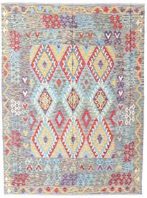 Kilim Afgan Old Style Dywan 175X233 Orientalny Tkany Ręcznie Jasnoszary/Jasnoróżowy (Wełna, Afganistan)