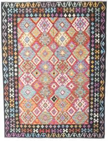 Kilim Afghan Old Style Rug 182X237 Authentic  Oriental Handwoven Dark Grey/Light Purple (Wool, Afghanistan)