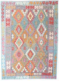 Kilim Afghan Old Style Rug 176X240 Authentic  Oriental Handwoven Beige/Light Grey (Wool, Afghanistan)