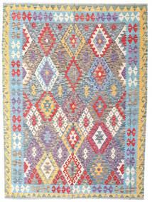 Kelim Afghan Old Style Teppich  177X239 Echter Orientalischer Handgewebter Hellgrau/Beige (Wolle, Afghanistan)