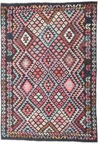 Kelim Afghan Old Style Teppich 175X253 Echter Orientalischer Handgewebter Schwartz/Dunkelgrau (Wolle, Afghanistan)
