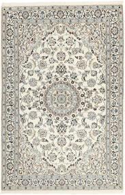 Nain 9La Matto 117X183 Itämainen Käsinkudottu Vaaleanharmaa/Beige (Villa/Silkki, Persia/Iran)