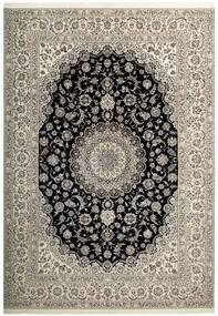 Nain 6La Matta 255X358 Äkta Orientalisk Handvävd Ljusgrå/Mörkgrå Stor (Ull/Silke, Persien/Iran)