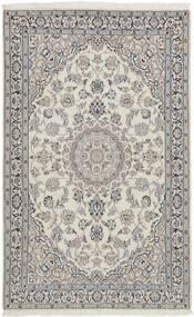 Nain 9La Alfombra 117X185 Oriental Tejida A Mano Gris Claro/Beige Oscuro (Lana/Seda, Persia/Irán)
