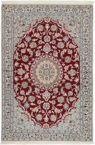 Nain 9La Χαλι 116X178 Ανατολής Χειροποίητη Ύφανση Ανοιχτό Γκρι/Σκούρο Καφέ (Μάλλινα/Μεταξωτά, Περσικά/Ιρανικά)