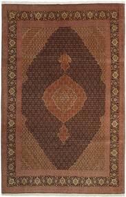 Tabriz 50 Raj Vloerkleed 202X309 Echt Oosters Handgeweven Bruin/Donkerrood/Donkerbruin (Wol/Zijde, Perzië/Iran)