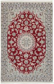 Nain 9La Χαλι 117X177 Ανατολής Χειροποίητη Ύφανση Ανοιχτό Γκρι/Σκούρο Κόκκινο (Μάλλινα/Μεταξωτά, Περσικά/Ιρανικά)