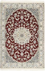 Nain 9La Vloerkleed 97X147 Echt Oosters Handgeweven Beige/Lichtgrijs (Wol/Zijde, Perzië/Iran)