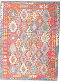 Kilim Afghan Old Style Rug 180X242 Authentic  Oriental Handwoven Light Pink/Light Grey (Wool, Afghanistan)