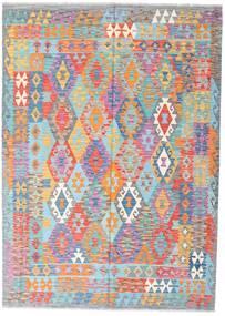 Kilim Afgan Old Style Dywan 170X240 Orientalny Tkany Ręcznie Jasnofioletowy/Jasnoszary (Wełna, Afganistan)