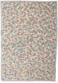 Kilim Afghan Old Style Rug 168X242 Authentic  Oriental Handwoven Light Grey/Dark Grey (Wool, Afghanistan)