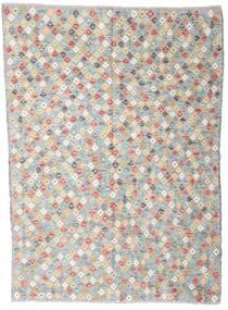 Kelim Afghan Old Style Teppich  168X232 Echter Orientalischer Handgewebter Hellgrau/Beige (Wolle, Afghanistan)
