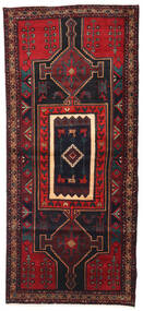 Hamadan Rug 126X275 Authentic  Oriental Handknotted Dark Red/Dark Brown (Wool, Persia/Iran)