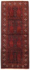 Belouch Alfombra 114X280 Oriental Hecha A Mano Rojo Oscuro/Marrón Oscuro (Lana, Persia/Irán)