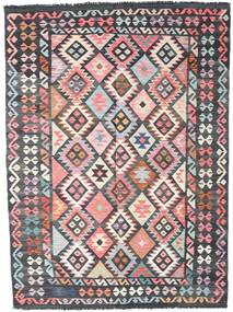 Kilim Afghan Old Style Rug 172X240 Authentic  Oriental Handwoven Dark Grey/Light Pink (Wool, Afghanistan)
