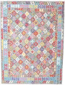 Kelim Afghan Old Style Teppich  176X234 Echter Orientalischer Handgewebter Helllila/Beige (Wolle, Afghanistan)