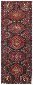Hamadan Tappeto 107X283 Orientale Fatto A Mano Alfombra Pasillo Rosso Scuro/Nero (Lana, Persia/Iran)