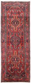 Asadabad Teppich 101X282 Echter Orientalischer Handgeknüpfter Läufer Dunkelrot/Dunkelbraun (Wolle, Persien/Iran)