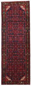 Hosseinabad Szőnyeg 110X320 Keleti Csomózású Sötétpiros/Fekete (Gyapjú, Perzsia/Irán)