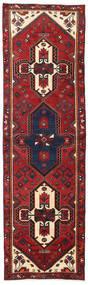 Hamadan Teppich  97X323 Echter Orientalischer Handgeknüpfter Läufer Dunkelrot/Dunkelgrau (Wolle, Persien/Iran)