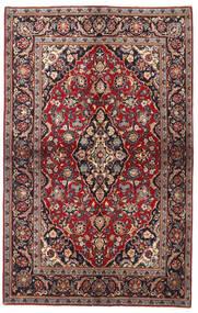 Keshan Teppich 137X218 Echter Orientalischer Handgeknüpfter Dunkelrot/Schwartz (Wolle, Persien/Iran)