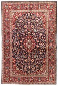 Keshan Teppich 140X210 Echter Orientalischer Handgeknüpfter Dunkelrot/Dunkellila (Wolle, Persien/Iran)