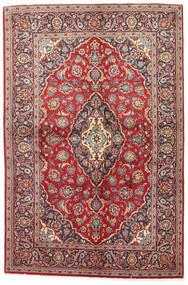 Kashan Szőnyeg 141X215 Keleti Csomózású Sötétpiros/Barna (Gyapjú, Perzsia/Irán)