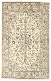 Keshan Teppich 135X216 Echter Orientalischer Handgeknüpfter Beige/Dunkel Beige (Wolle, Persien/Iran)