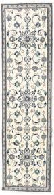 Nain Teppe 76X278 Ekte Orientalsk Håndknyttet Teppeløpere Beige/Lys Grå (Ull, Persia/Iran)