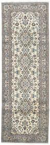 Keshan Matto 98X293 Itämainen Käsinsolmittu Käytävämatto Vaaleanharmaa/Ruskea (Villa, Persia/Iran)