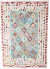 Kilim Afgan Old Style Dywan 196X285 Orientalny Tkany Ręcznie Beżowy/Ciemnobeżowy (Wełna, Afganistan)