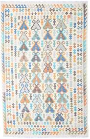 Kilim Afgán Old Style Szőnyeg 194X302 Keleti Kézi Szövésű Bézs/Világosszürke (Gyapjú, Afganisztán)