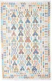 Kelim Afghan Old Style Teppich 194X302 Echter Orientalischer Handgewebter Beige/Hellgrau (Wolle, Afghanistan)