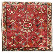 Hamadan Teppich 58X60 Echter Orientalischer Handgeknüpfter Quadratisch Rost/Rot/Dunkelbraun (Wolle, Persien/Iran)