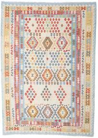 Kilim Afghan Old Style Tappeto 208X288 Orientale Tessuto A Mano Grigio Chiaro/Bianco/Creme (Lana, Afghanistan)