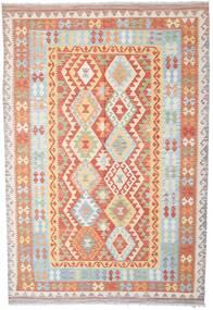 Kilim Afghan Old Style Tappeto 199X292 Orientale Tessuto A Mano Beige/Grigio Chiaro (Lana, Afghanistan)