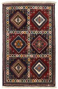 Yalameh Χαλι 66X101 Ανατολής Χειροποιητο Σκούρο Κόκκινο/Μπεζ (Μαλλί, Περσικά/Ιρανικά)